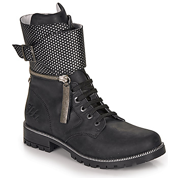 Shoes Girl High boots Ikks PEGGY Black