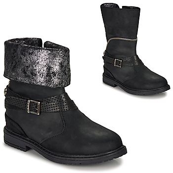 Shoes Girl High boots Ikks FLORA Black