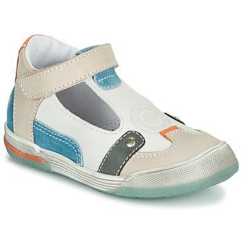 Shoes Boy Sandals GBB PERCEVAL White / Beige / Blue