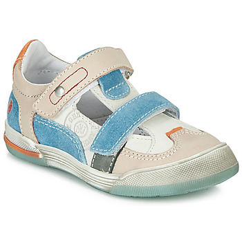 Shoes Boy Low top trainers GBB PRINCE White / Beige / Blue