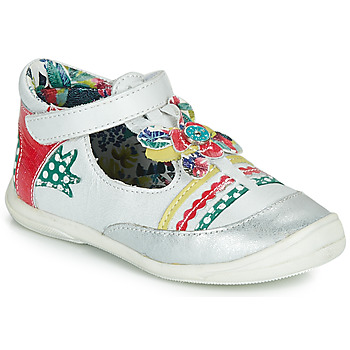 Shoes Girl Flat shoes Catimini PANTHERE White / Multicoloured