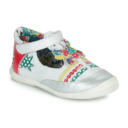 Shoes Girl Flat shoes Catimini PANTHERE White / Multicolour