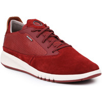 Shoes Men Low top trainers Geox U Aerantis A U927FA-02243-C7004 burgundy