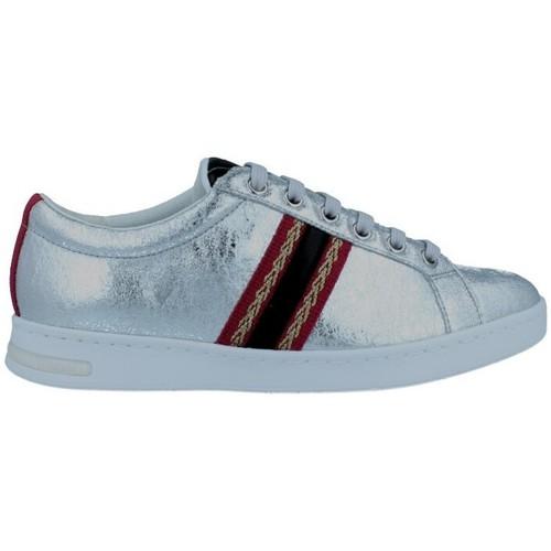 Shoes Women Low top trainers Geox Jaysen D921BA Sneakers de Mujer Silver