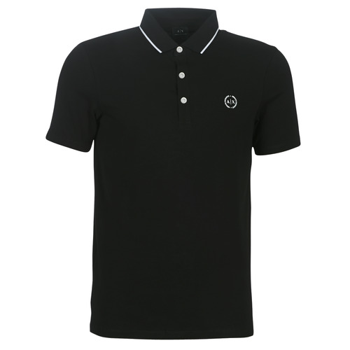 Clothing Men short-sleeved polo shirts Armani Exchange 8NZF70-Z8M9Z-1202 Black