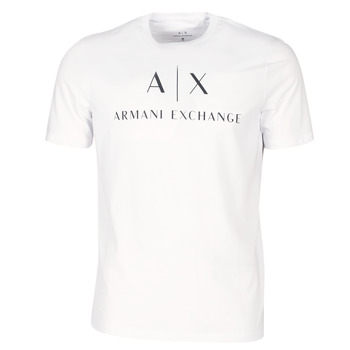 Clothing Men short-sleeved t-shirts Armani Exchange 8NZTCJ-Z8H4Z-1100 White