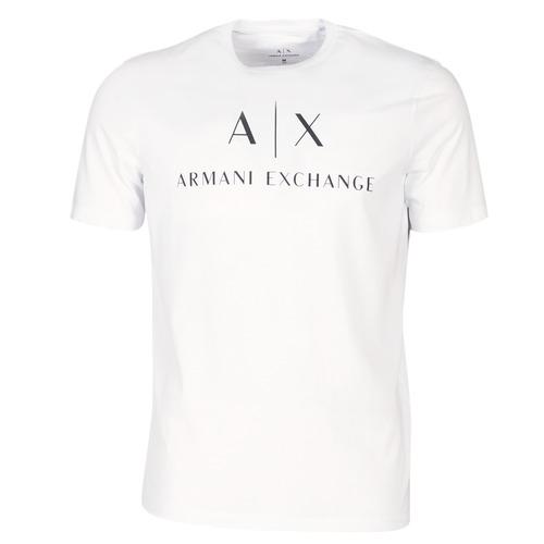 Clothing Men short-sleeved t-shirts Armani Exchange 8NZTCJ-Z8H4Z-1100 White