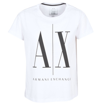 Clothing Women short-sleeved t-shirts Armani Exchange 8NYTCX-YJG3Z-5102 White