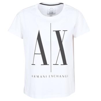 Clothing Women short-sleeved t-shirts Armani Exchange 8NYTCX-YJG3Z-5102 White