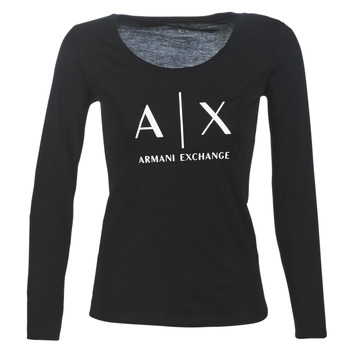 Clothing Women Long sleeved tee-shirts Armani Exchange 8NYTDG-YJ16Z-1200 Black