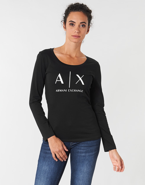 Clothing Women Long sleeved tee-shirts Armani Exchange 8NYTDG-YJ16Z-1200 Black