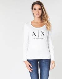 Clothing Women Long sleeved tee-shirts Armani Exchange 8NYTDG-YJ16Z-1000 White