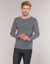 Clothing Men Long sleeved tee-shirts Armor Lux VERMO Marine / White