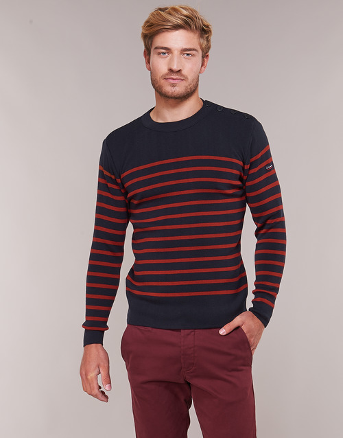 Clothing Men jumpers Armor Lux LEOPOLD Marine / Red