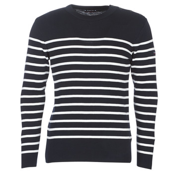 Clothing Men jumpers Armor Lux MARIO Marine / White