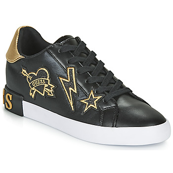 Shoes Women Low top trainers Guess PATH Black / Gold