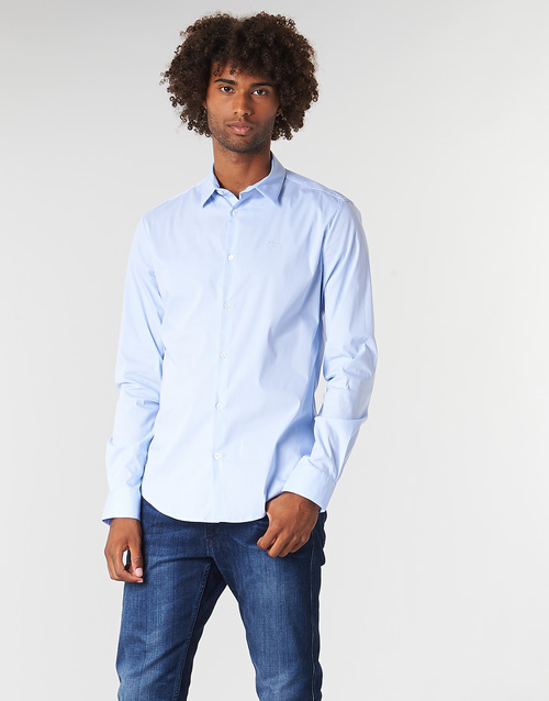 Clothing Men long-sleeved shirts Emporio Armani 8N1C09-1N06Z-0786 Blue