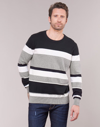 Clothing Men jumpers Casual Attitude LORISS Black / Grey