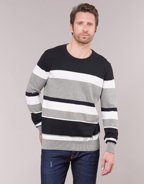 Clothing Men jumpers Casual Attitude LORISS Black / Grey