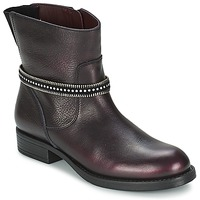 Shoes Girl Mid boots Unisa GEMA BORDEAUX