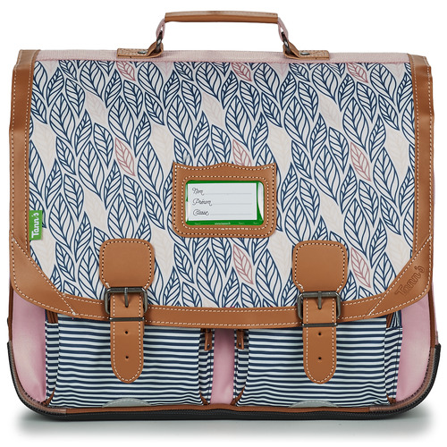 Bags Girl Satchels Tann's CREATION FLORE CARTABLE 41 CM Pink