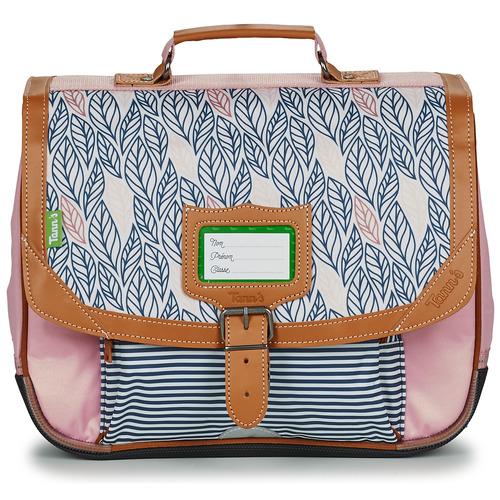 Bags Girl Satchels Tann's CREATION FLORE CARTABLE 35 CM Pink