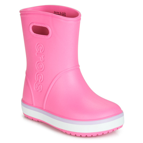 Shoes Girl Wellington boots Crocs CROCBAND RAIN BOOT K Pink