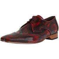 Shoes Men Derby Shoes Jeffery-West Polished Leather Shoes red