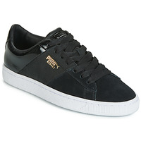 Shoes Women Low top trainers Puma BASKET REMIX Black / Gold