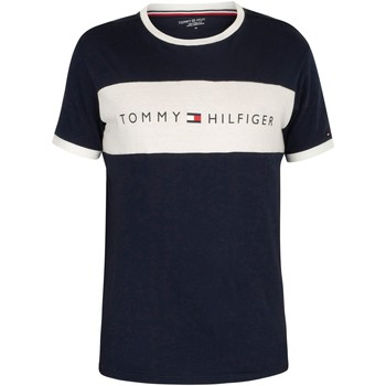 Clothing Men Short-sleeved t-shirts Tommy Hilfiger Flag Logo T-Shirt blue