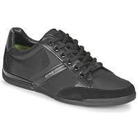 Shoes Men Low top trainers BOSS SATURN LOWP MX Black / Gold