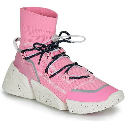 Shoes Women Hi top trainers Kenzo K SOCK SLIP ON Pink