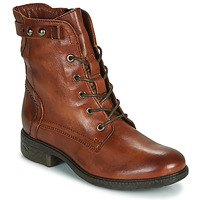 Shoes Women Mid boots Dream in Green NELATINE Cognac