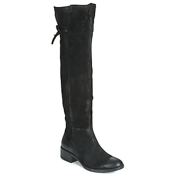 Shoes Women Thigh boots Dream in Green LAMME Black