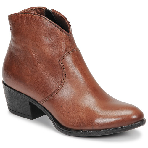 Shoes Women Ankle boots Dream in Green LALYSSA Cognac