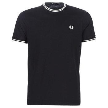 Clothing Men Short-sleeved t-shirts Fred Perry TWIN TIPPED T-SHIRT Black