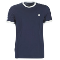 Clothing Men short-sleeved t-shirts Fred Perry TAPED RINGER T-SHIRT Marine