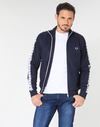 Clothing Men Jackets Fred Perry TAPED TRACK JACKET Marine