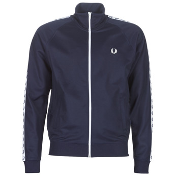 Clothing Men Track tops Fred Perry TAPED TRACK JACKET Marine