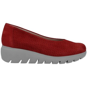 Shoes Women Loafers Pepe Menargues 2070 Zapatos Bailarinas de Mujer red