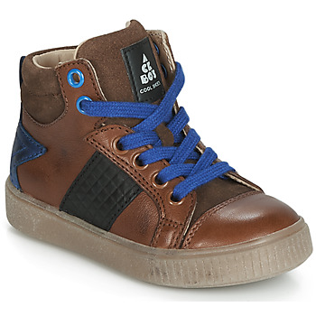 Shoes Boy Hi top trainers Acebo's 5290-CUERO Brown