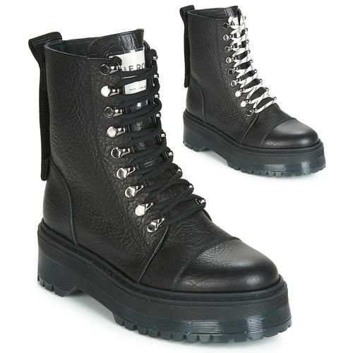 Shoes Women Mid boots Bronx RIFKA SUPER CHUNKY Black