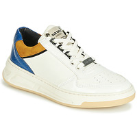 Shoes Women Low top trainers Bronx OLD COSMO White / Ocre tan / Blue