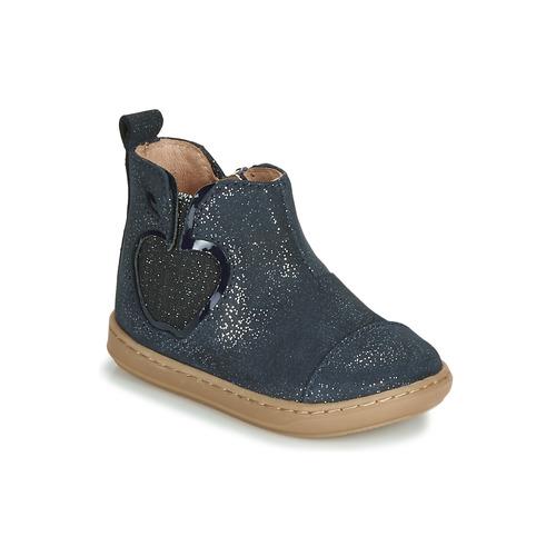 Shoes Girl Mid boots Shoo Pom BOUBA NEW APPLE Marine