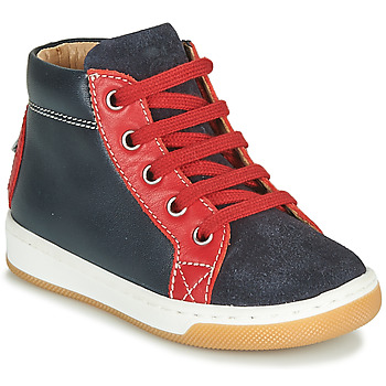 Shoes Boy Hi top trainers Shoo Pom DUDE FORCE Marine / Red