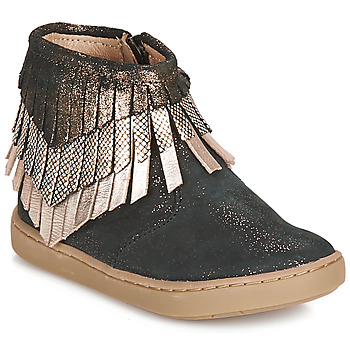 Shoes Girl Mid boots Shoo Pom PLAY HURON Black / Silver
