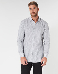 Clothing Men Long-sleeved shirts HUGO ELISHA02 Grey