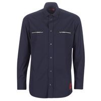 Clothing Men Long-sleeved shirts HUGO ETRUS Marine