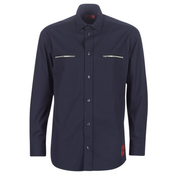 Clothing Men Long-sleeved shirts HUGO ETRUS Marine
