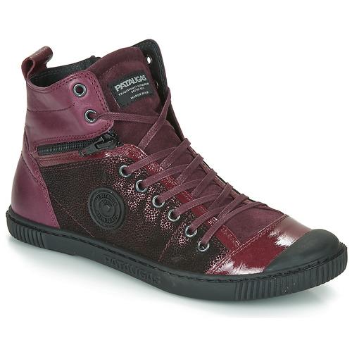 Shoes Women Hi top trainers Pataugas BANJOU Aubergine
